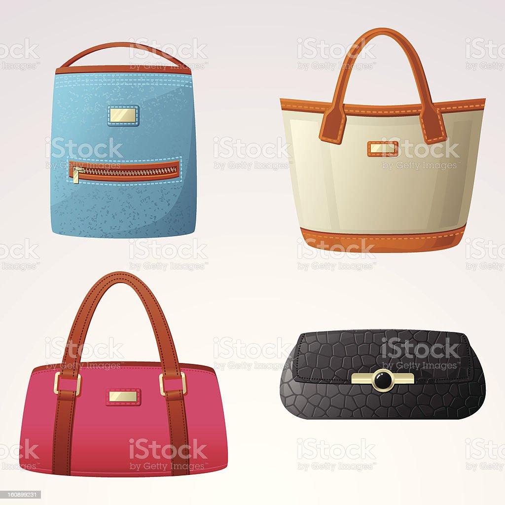 Female bags illustration vector art illustration