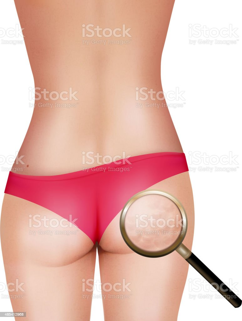Female body with magnifying glass. Vector. vector art illustration