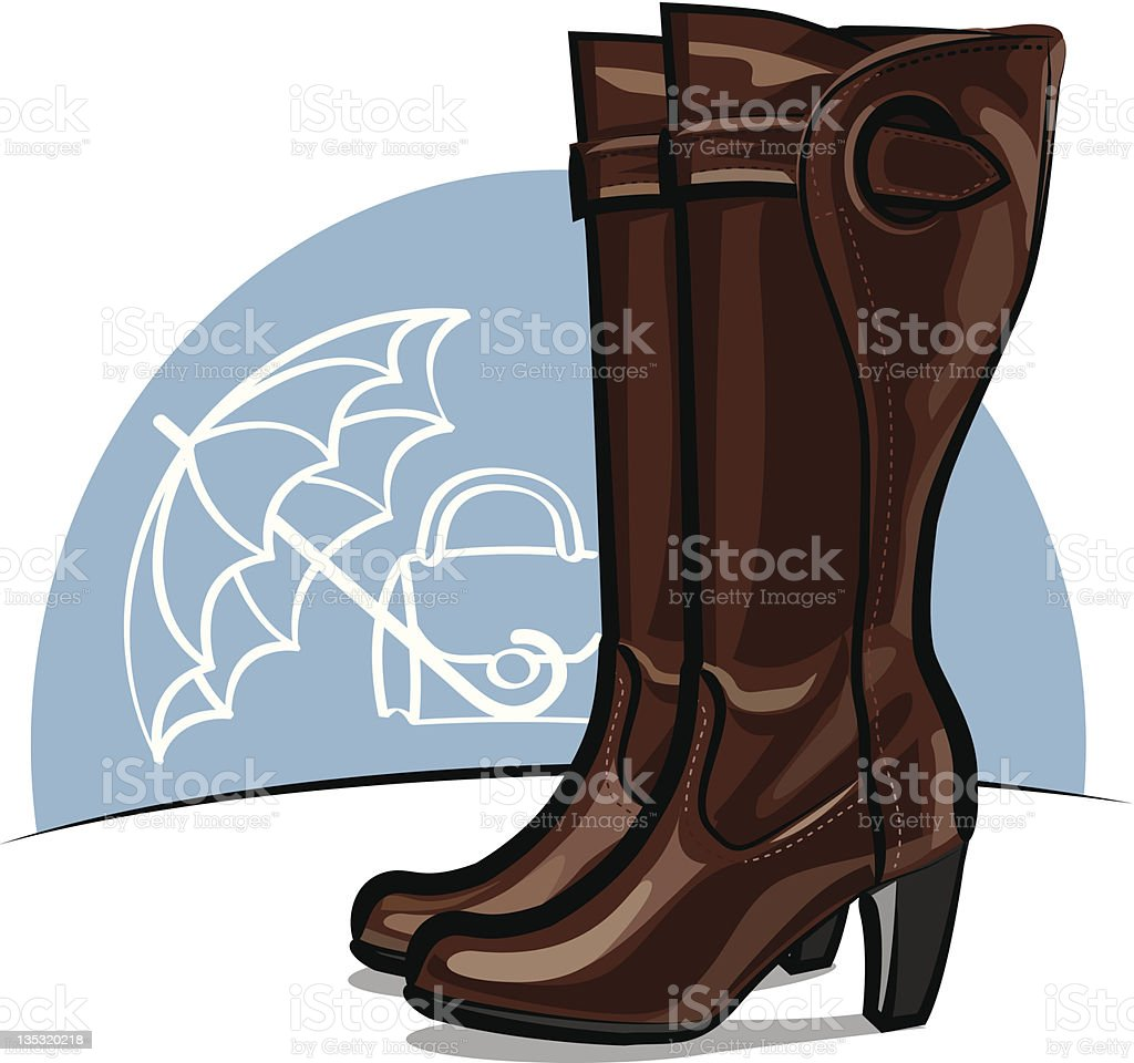 female boots royalty-free stock vector art