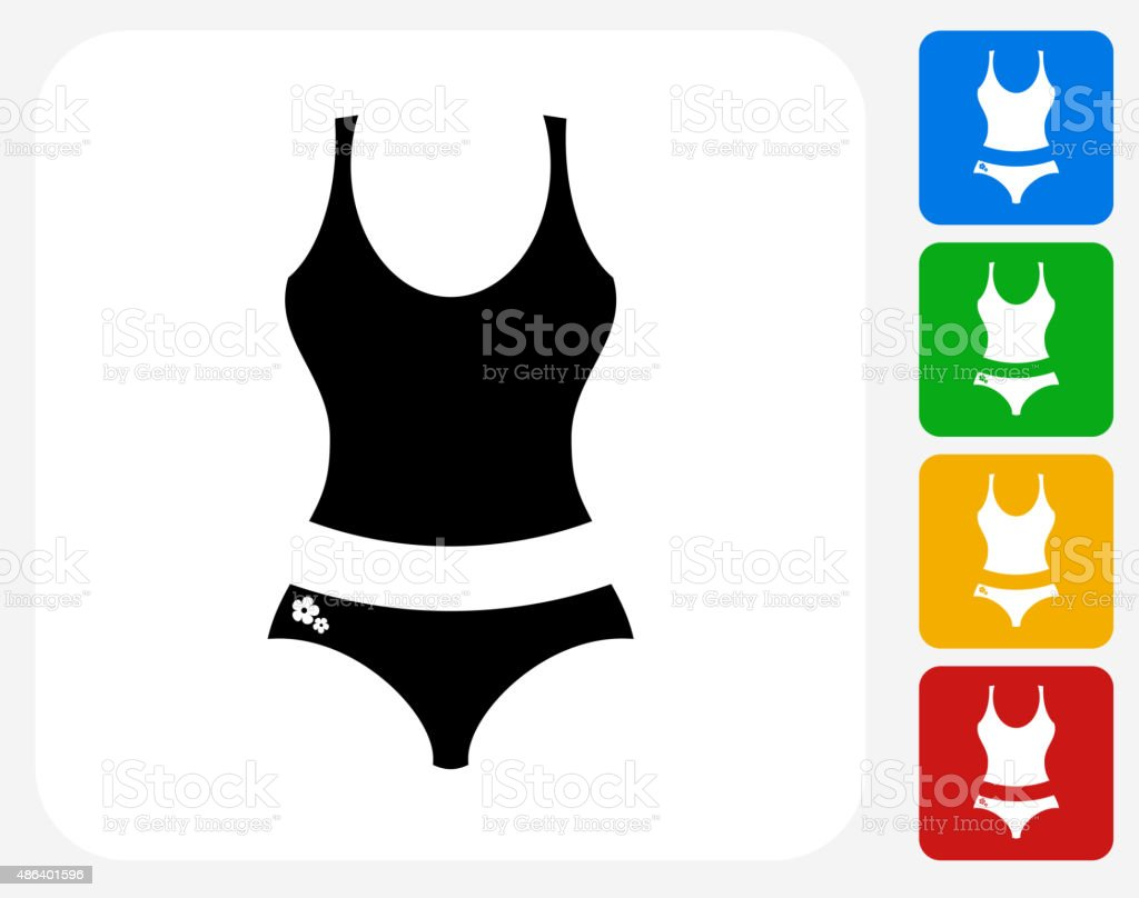 Female Clothes Icon Flat Graphic Design vector art illustration