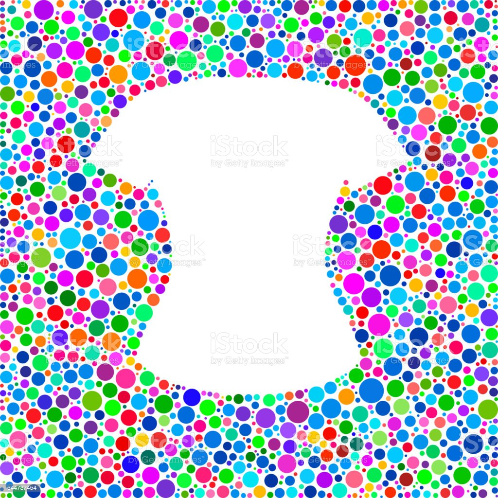 Female Clothes Icon on Color Circle Background Pattern vector art illustration