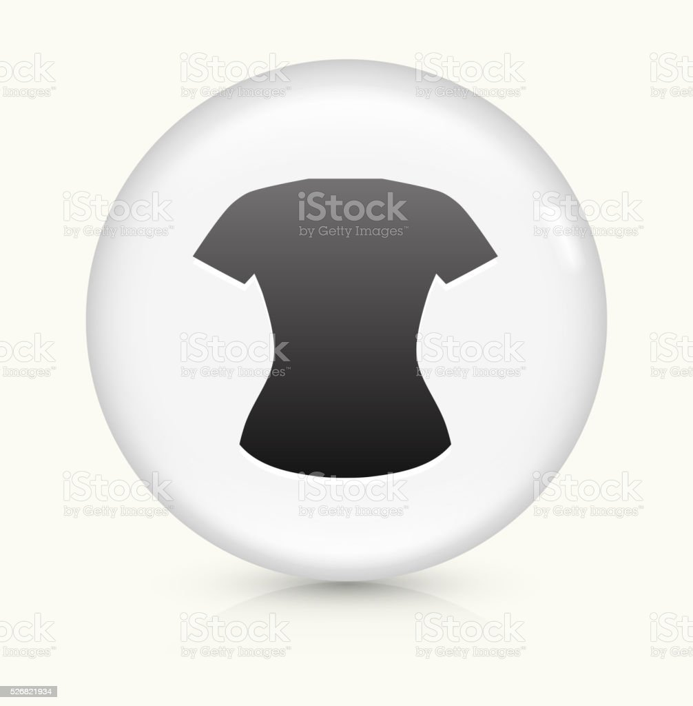 Female Clothes icon on white round vector button vector art illustration