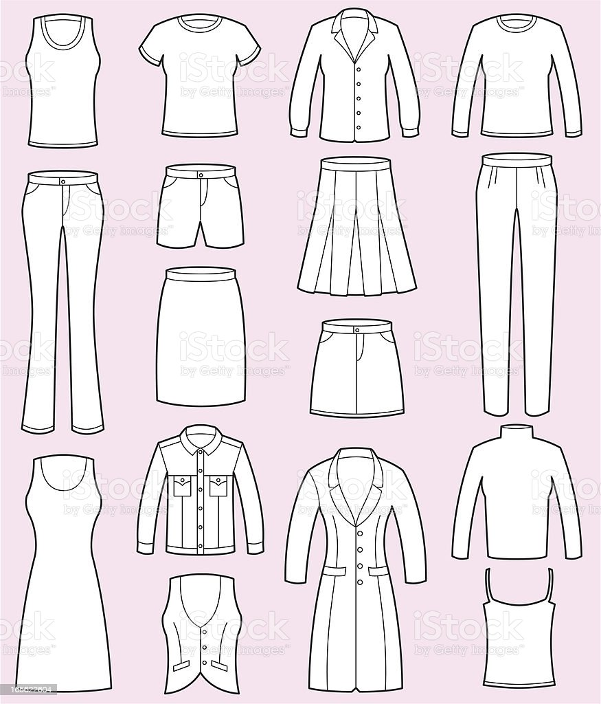Female Clothing vector art illustration