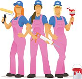 Female decorating team