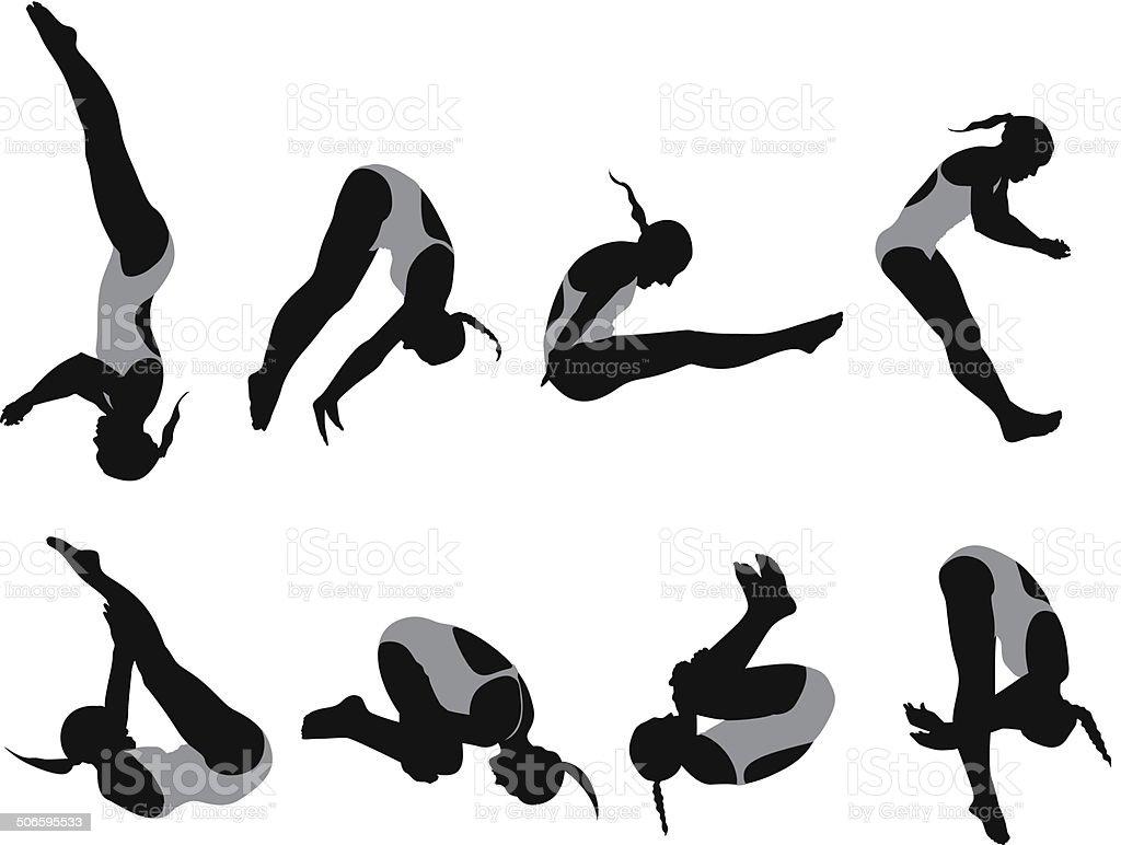 Female diver royalty-free stock vector art