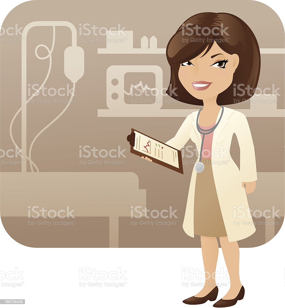 Female Doctor royalty-free stock vector art