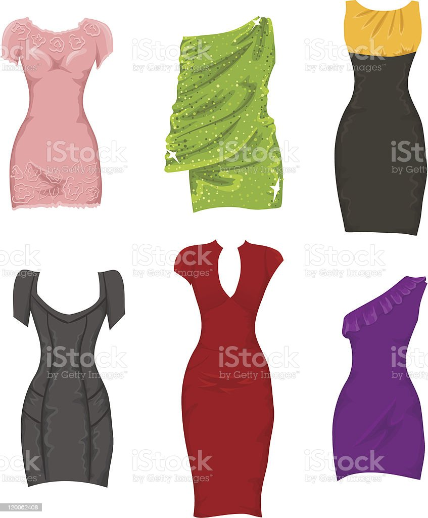 Female dresses royalty-free stock vector art