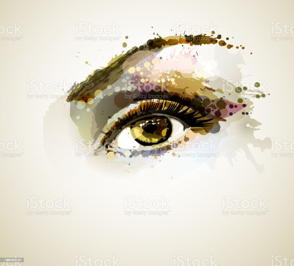 female eye vector art illustration