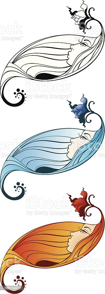 Female face royalty-free stock vector art