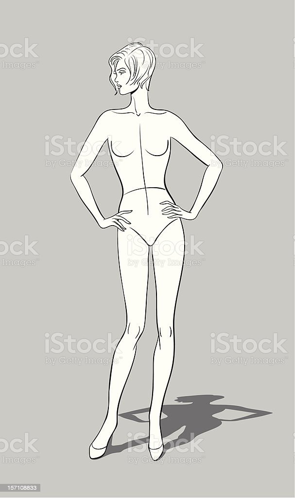Female Fashion Figurine royalty-free stock vector art