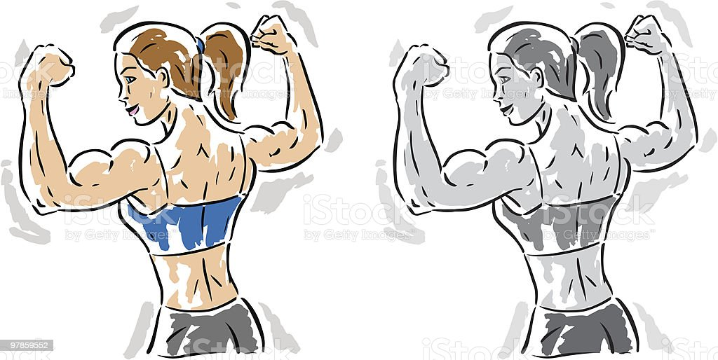 Female Flexer royalty-free stock vector art