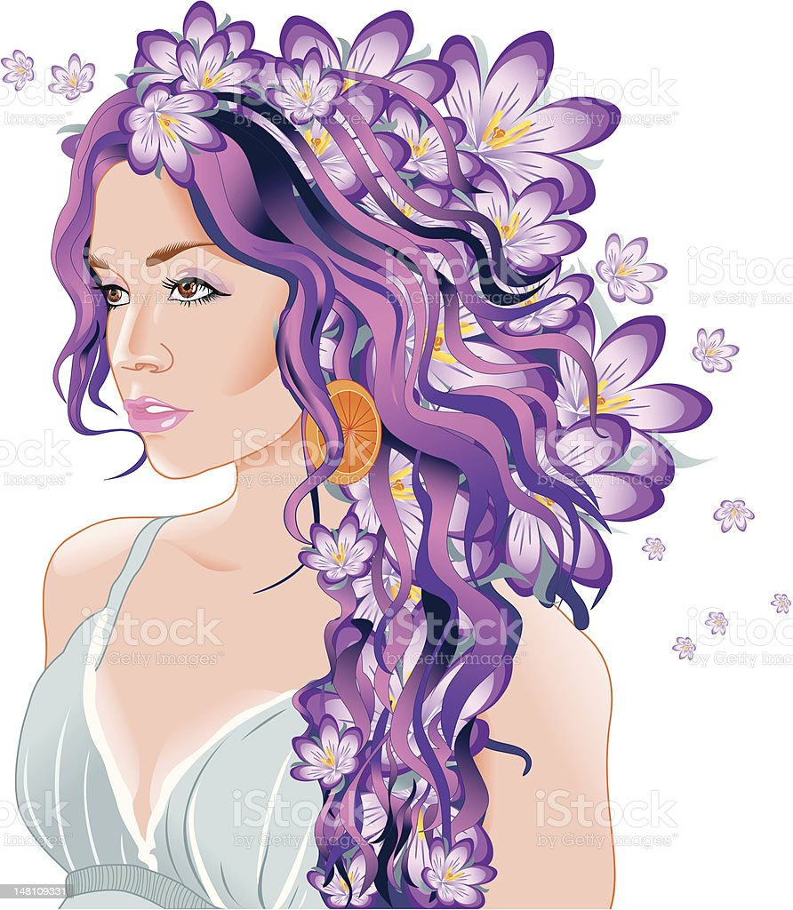 female flower royalty-free stock vector art