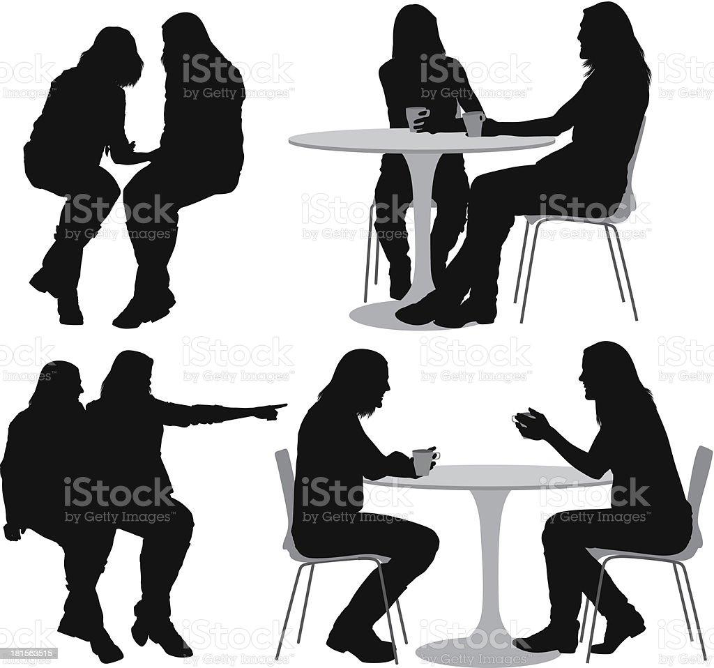 Female friends royalty-free stock vector art