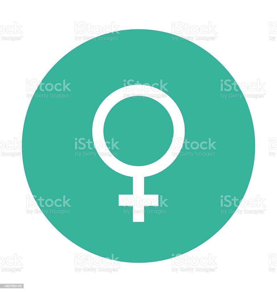 Female Gender Colored Vector Icon vector art illustration