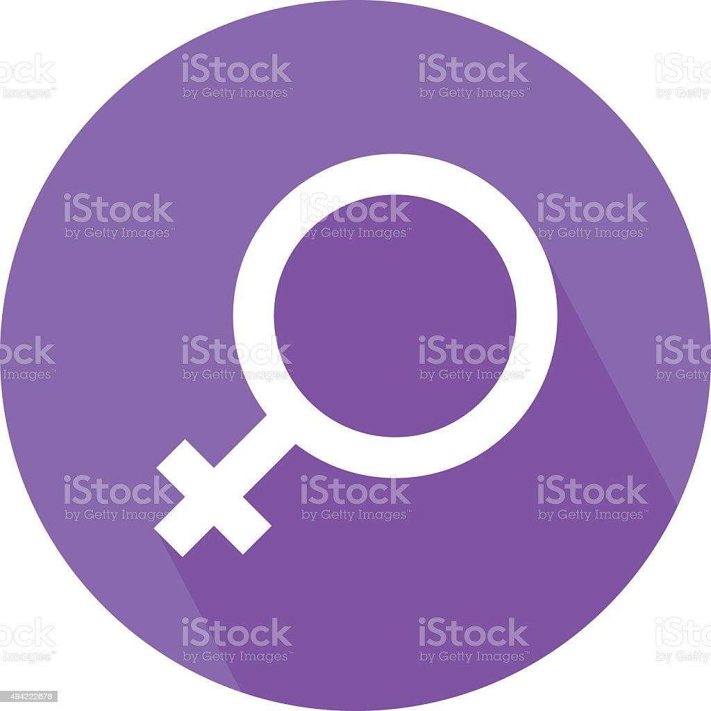 Female Gender Symbol Colored Vector Icon vector art illustration