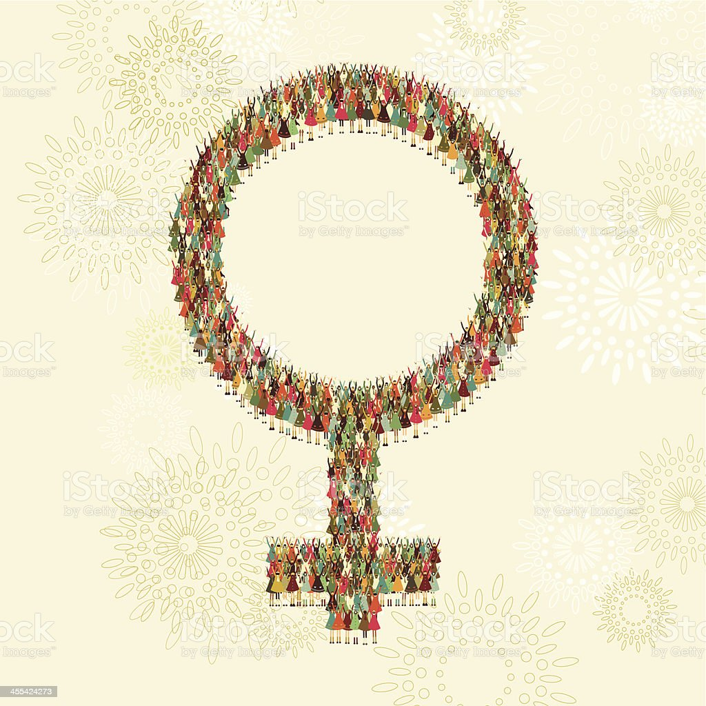Female gender symbol of women vector art illustration