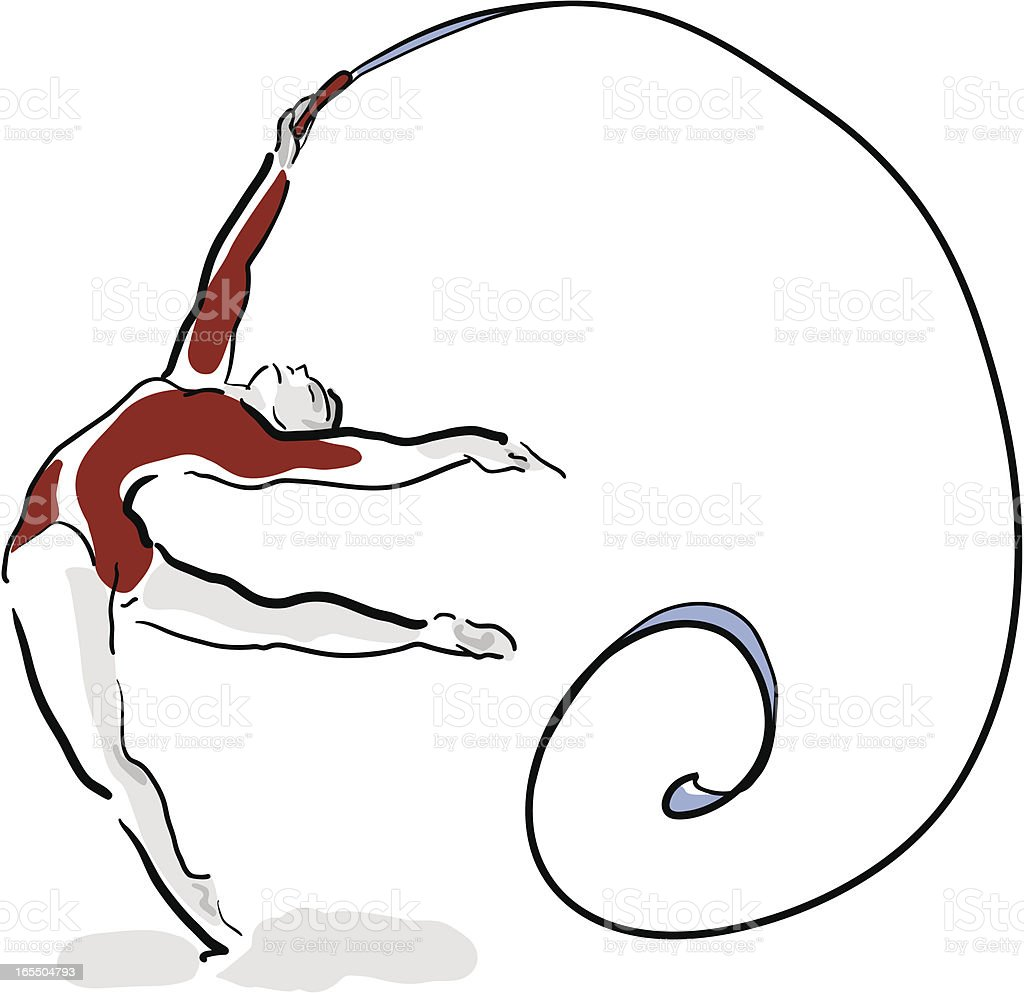Female Gymnast royalty-free stock vector art