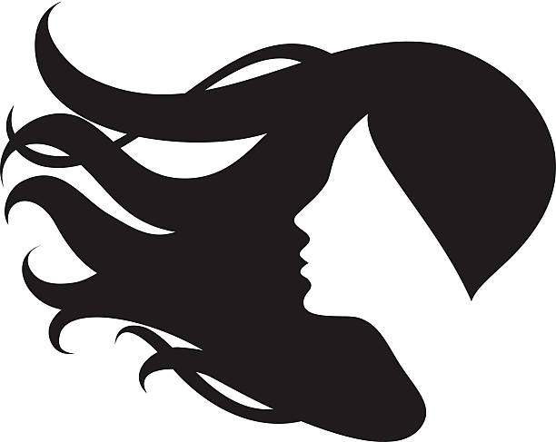 Woman Hair Clip Art, Vector Images & Illustrations - iStock