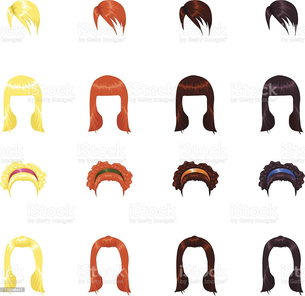 Female hairstyles royalty-free stock vector art