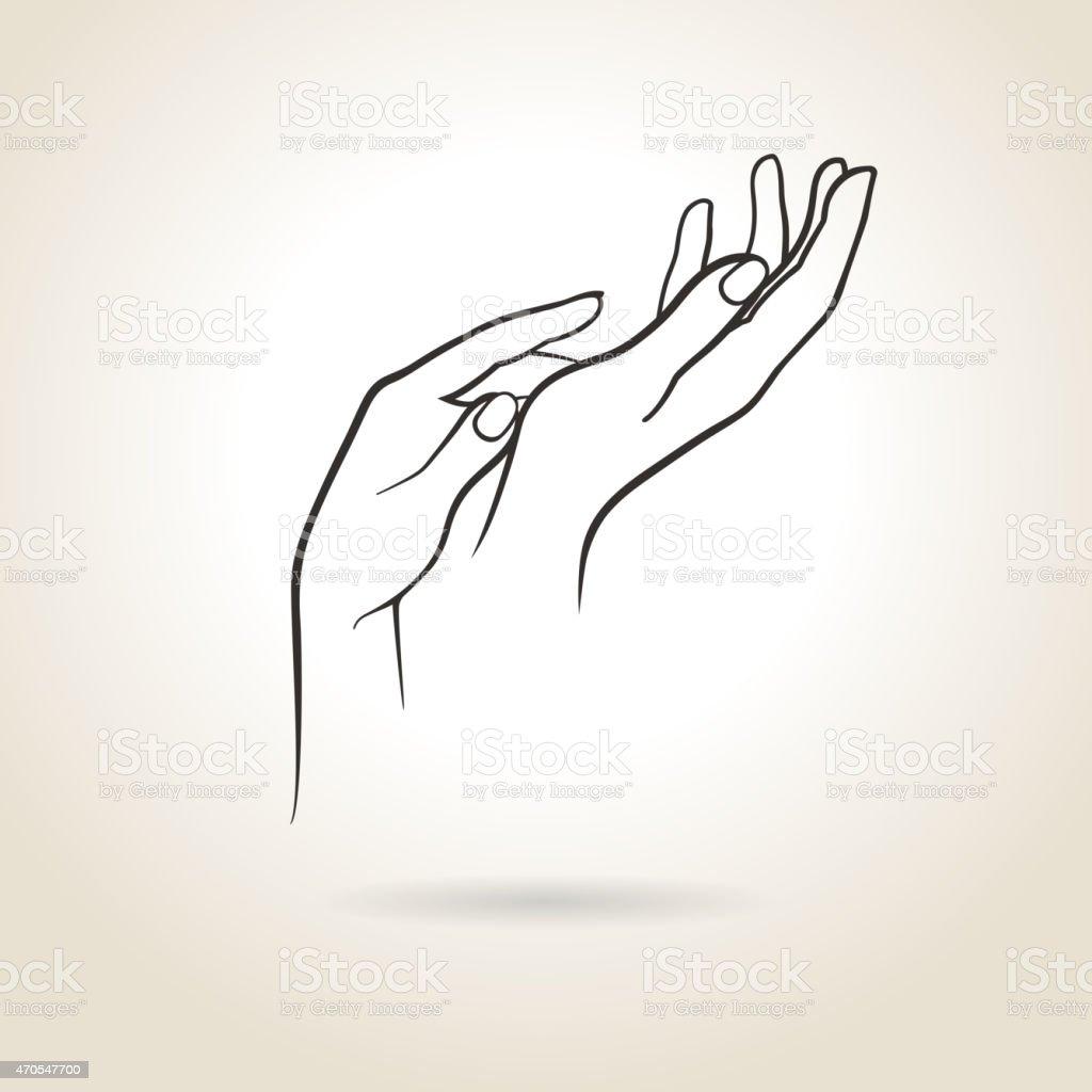 female hands vector art illustration