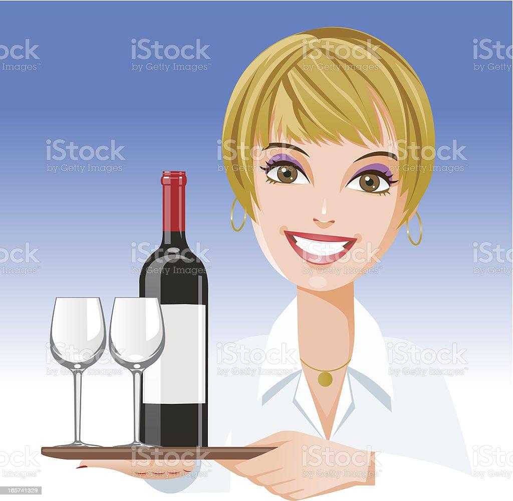 Female Occupation: Waitress royalty-free stock vector art