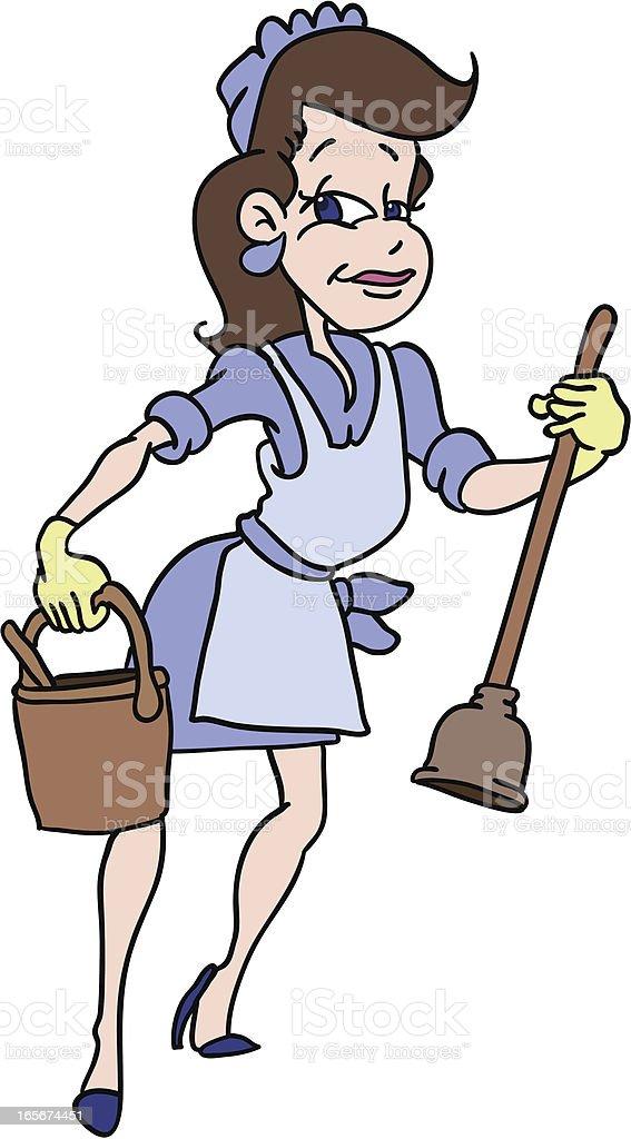 Female Plumber vector art illustration