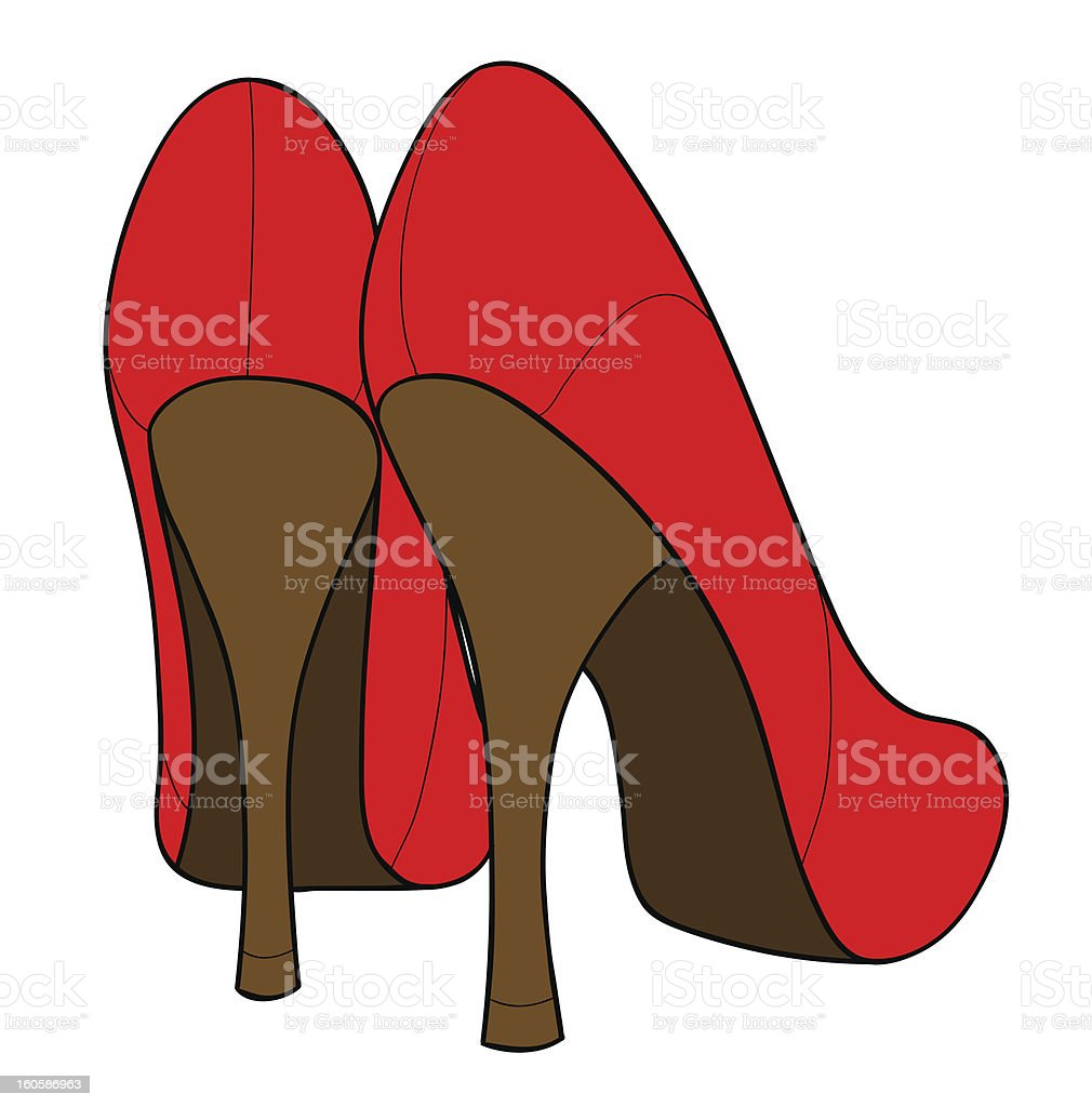 Female shoes royalty-free stock vector art