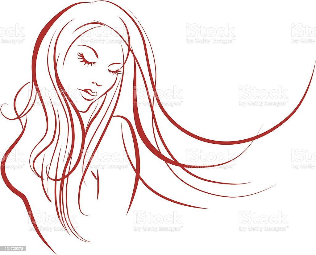 Mujer De Silueta Illustracion Libre De Derechos 121705279
