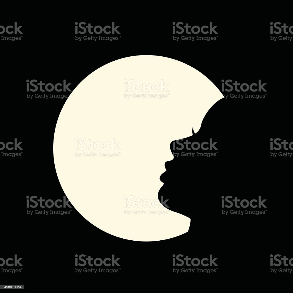 Female silhouette. vector art illustration