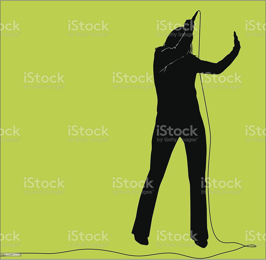 Female Singer ( Vector ) vector art illustration