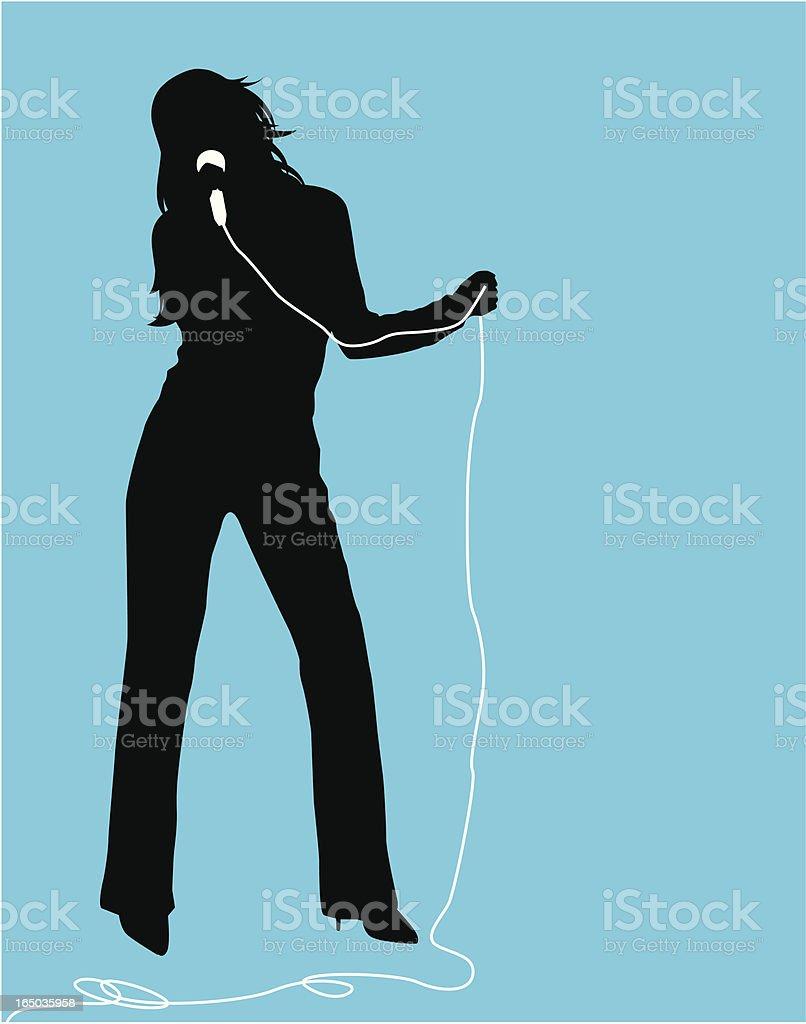 Female Singer  ( Vector ) royalty-free stock vector art