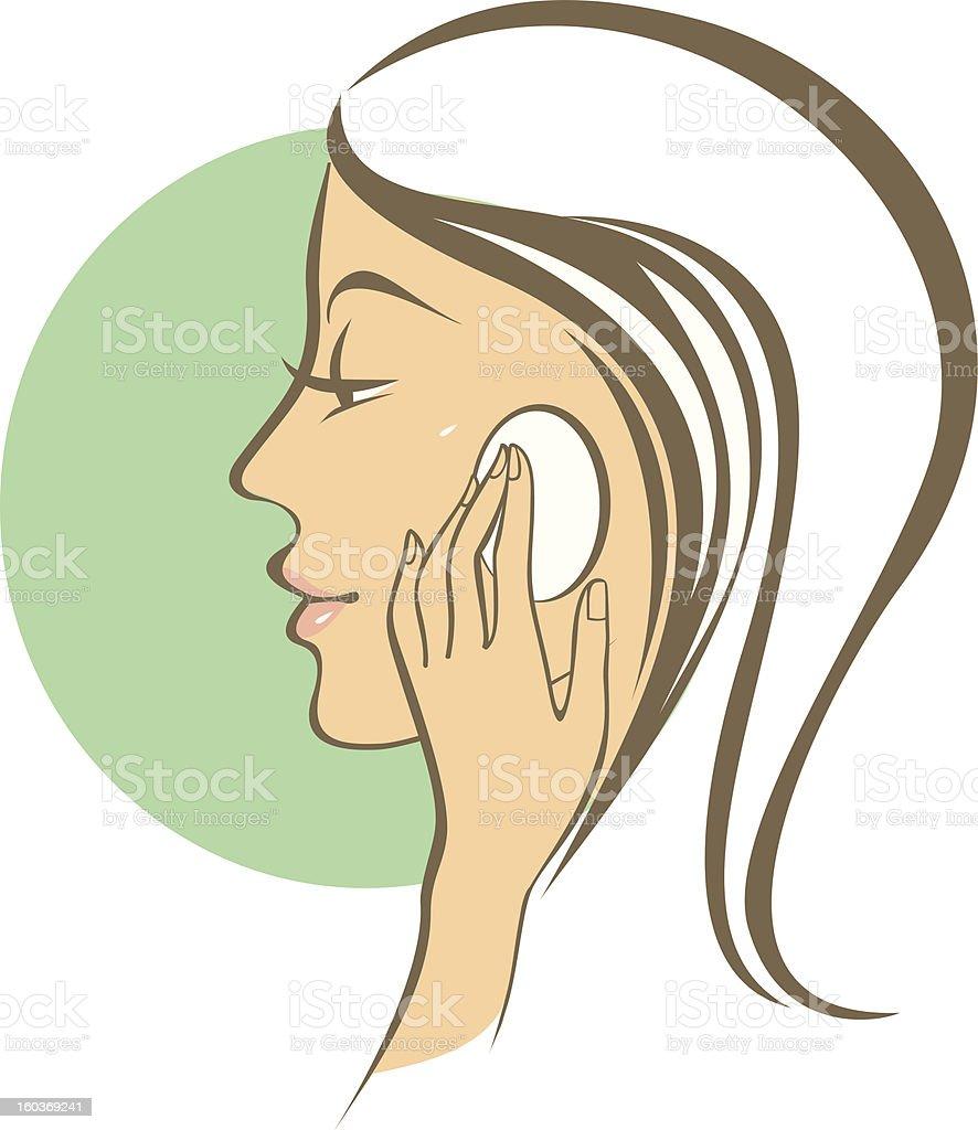 Female skincare vector art illustration