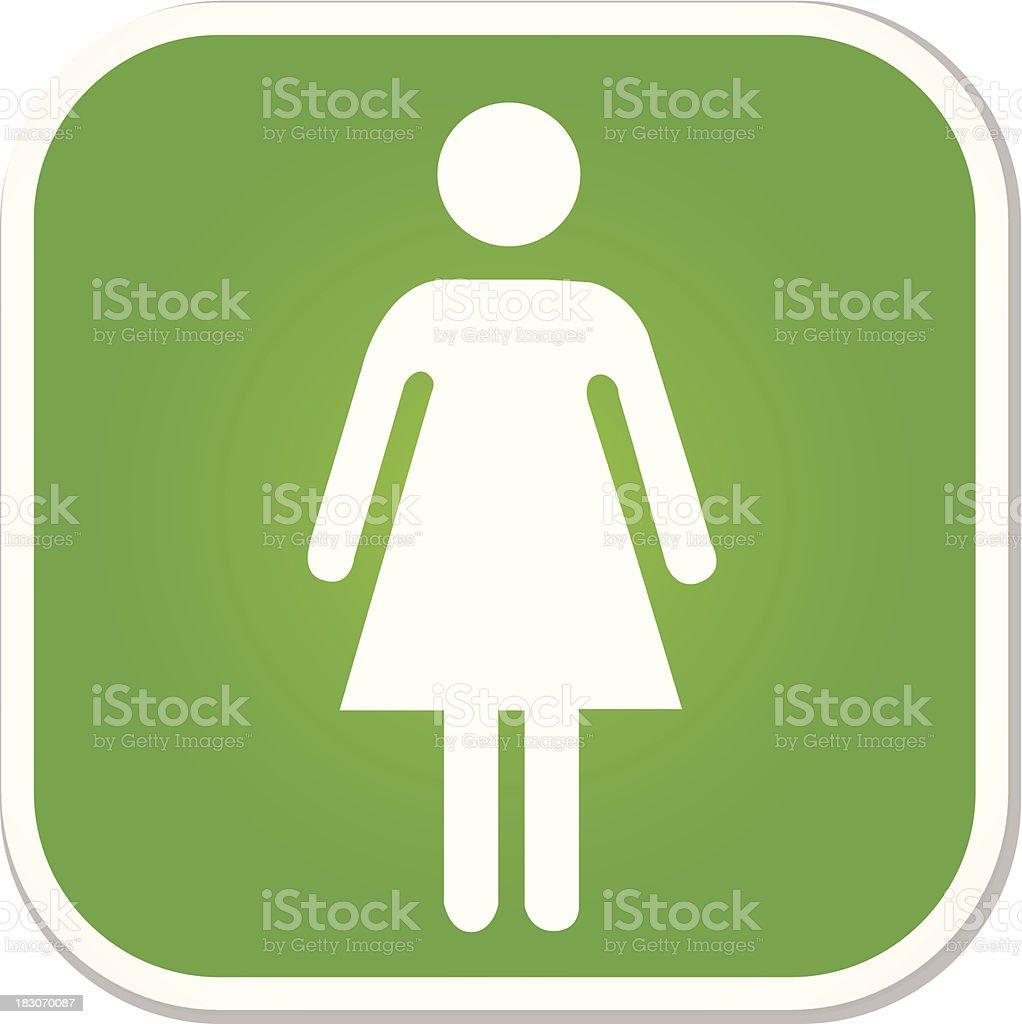 female symbol badge vector art illustration