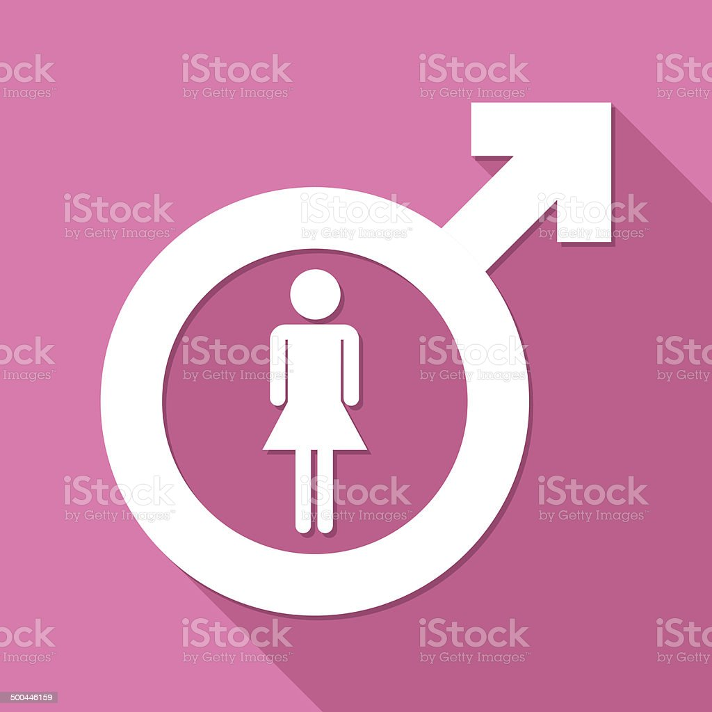 Female symbol vector art illustration