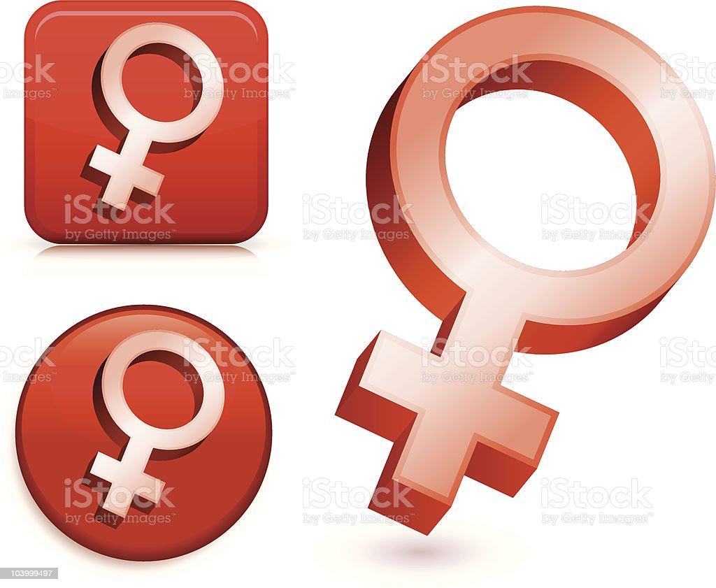 female symbols vector art illustration