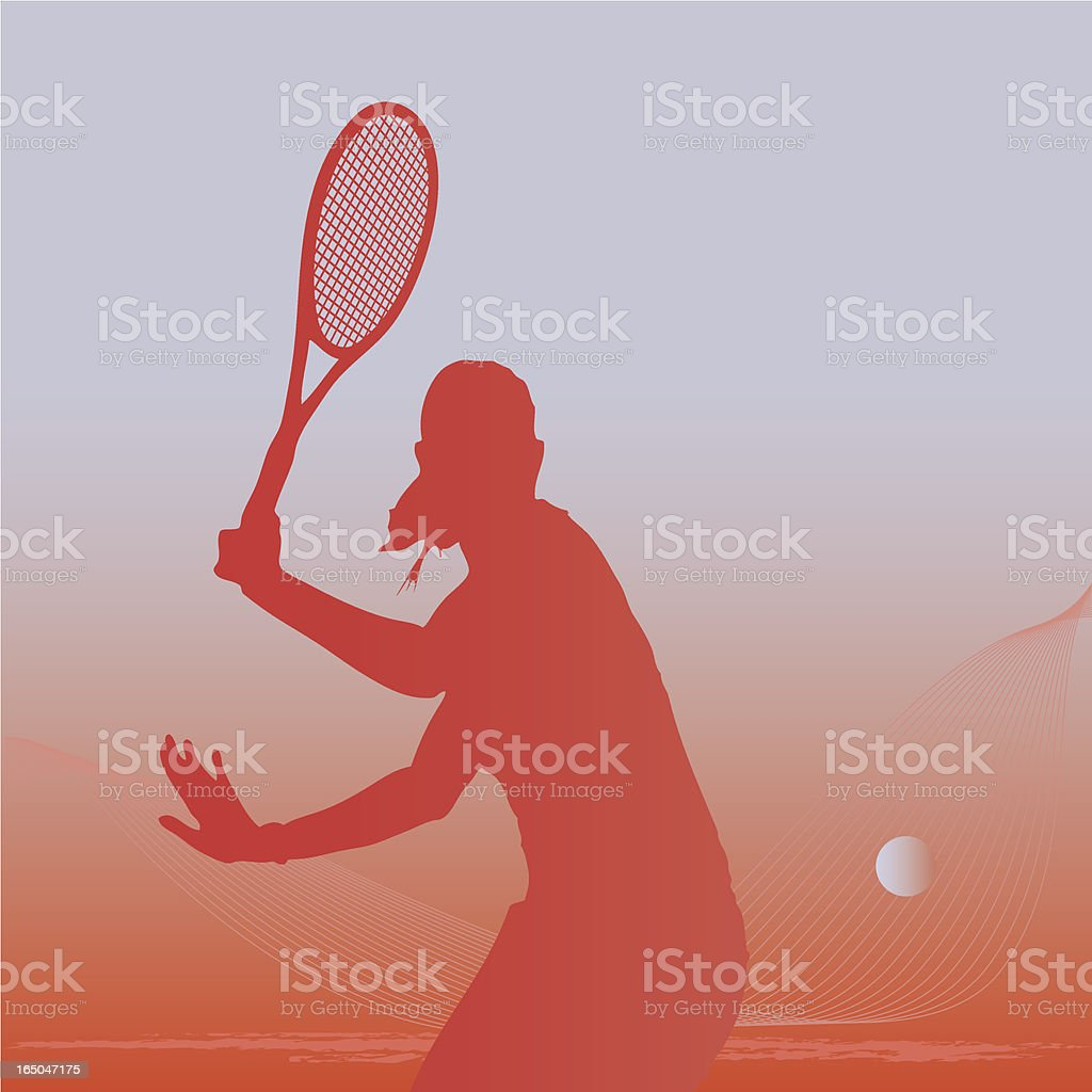 Female tennis player royalty-free stock vector art