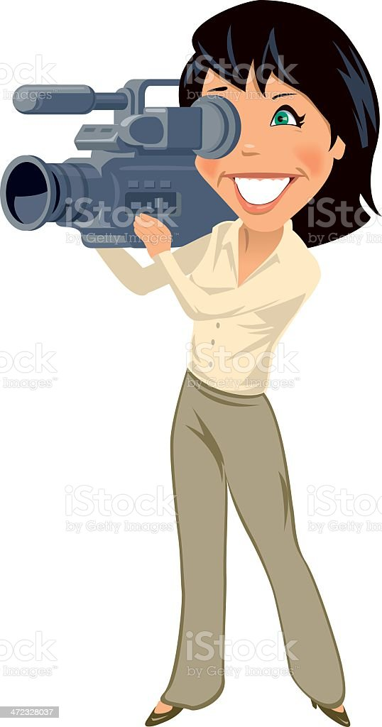 Female Videographer royalty-free stock vector art