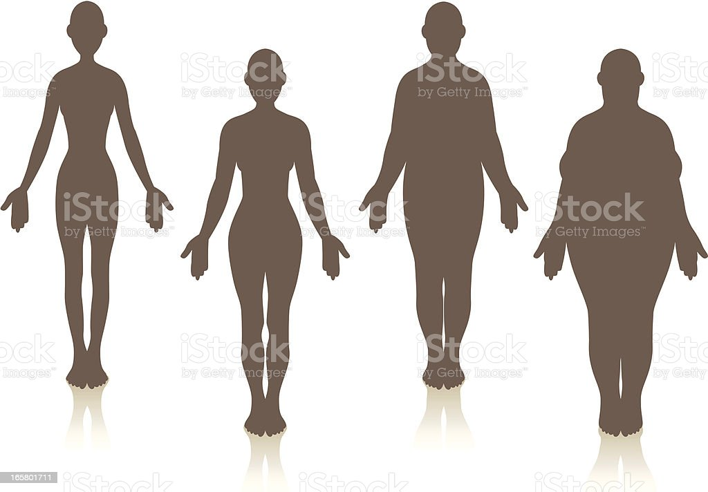 Female Weight vector art illustration