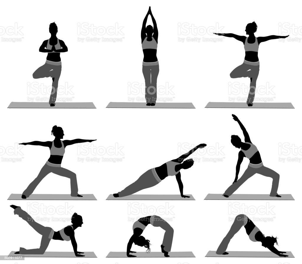 Female yoga instructor royalty-free stock vector art