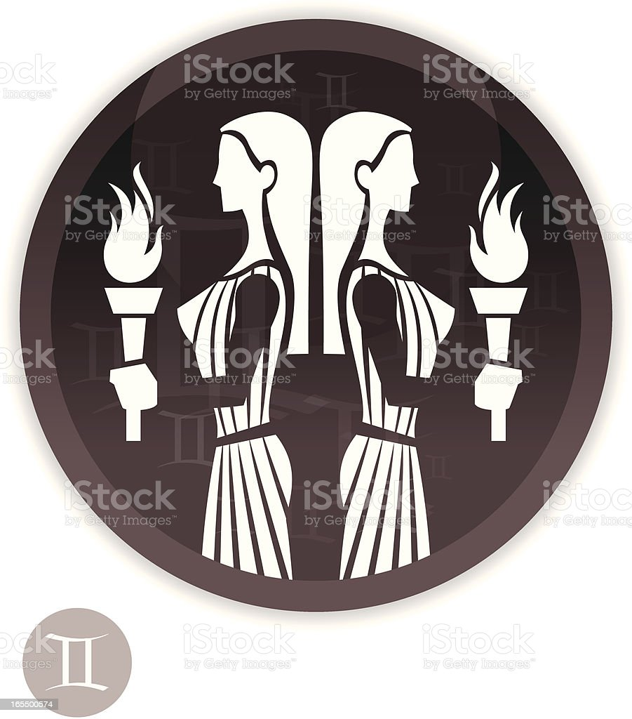 Female Zodiac - Gemini vector art illustration