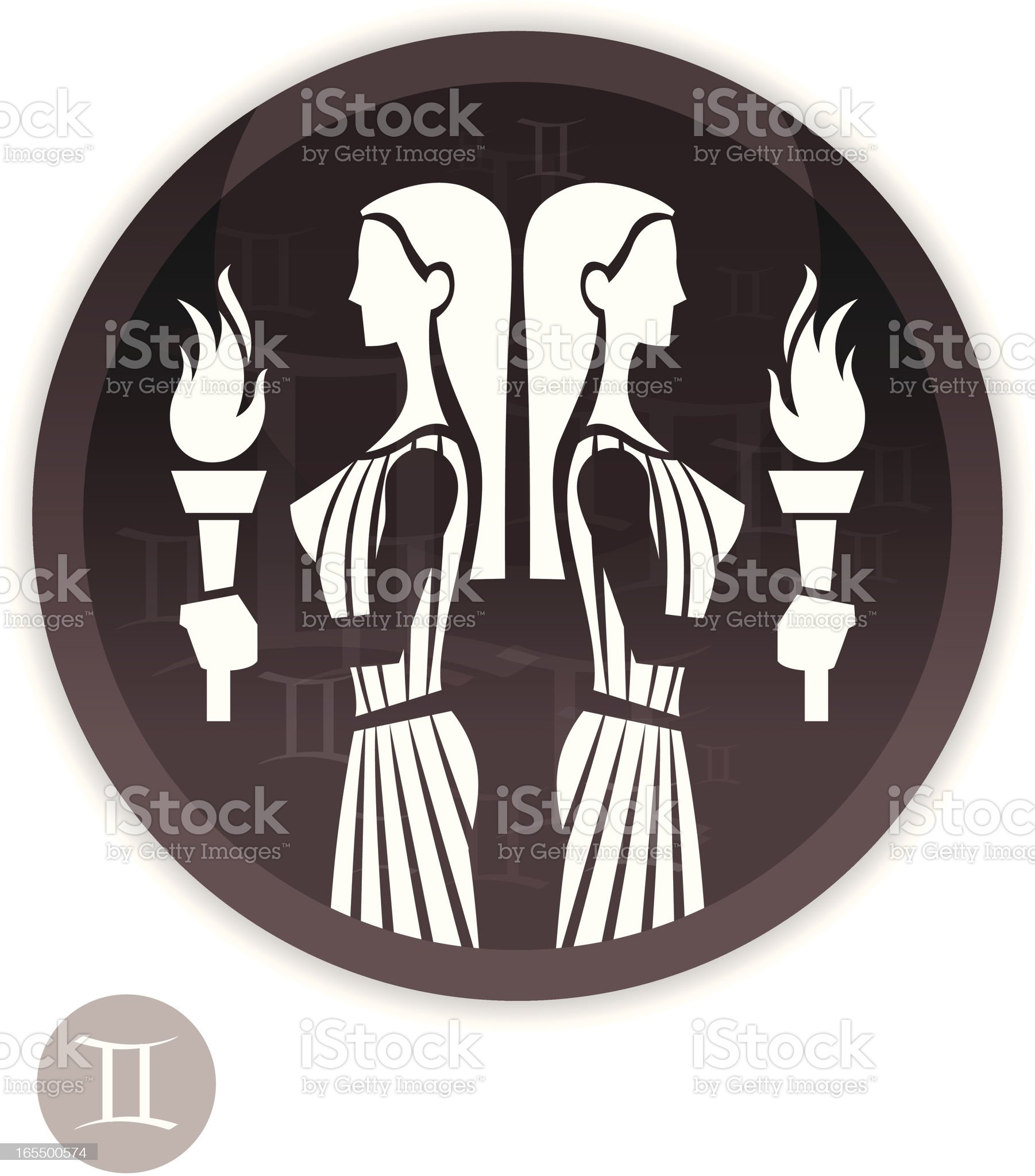 Female Zodiac - Gemini royalty-free stock vector art