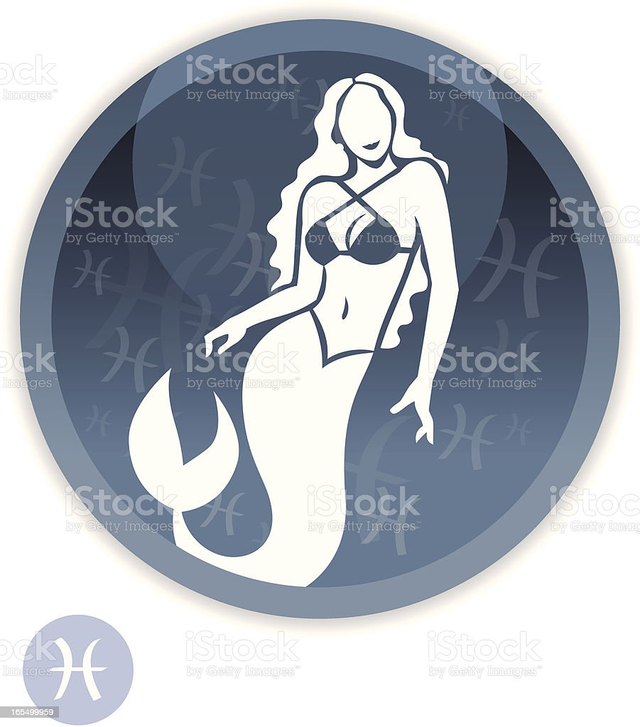 Female Zodiac - Pisces royalty-free stock vector art