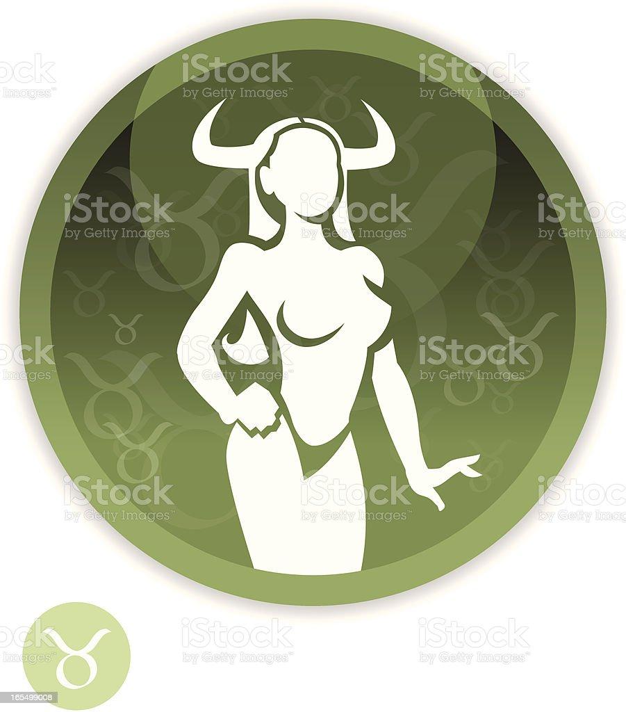 Female Zodiac - Taurus royalty-free stock vector art