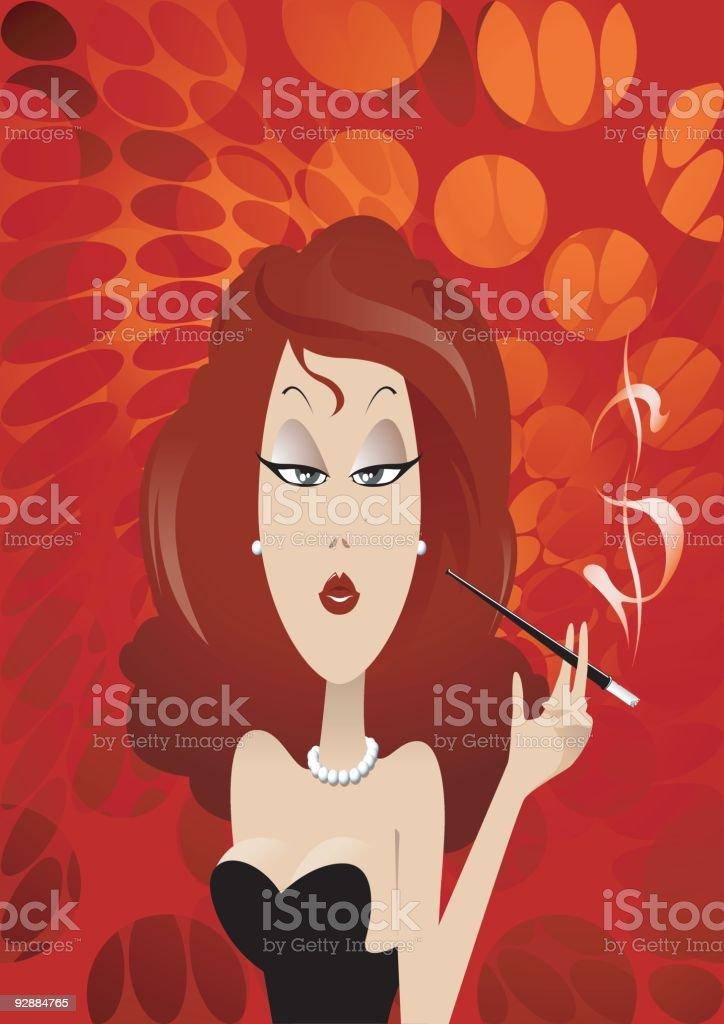 femme fatale royalty-free stock vector art