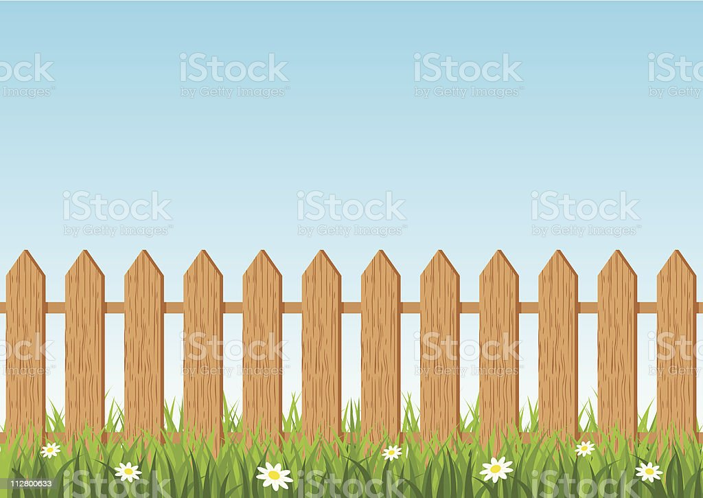 Fence background royalty-free stock vector art