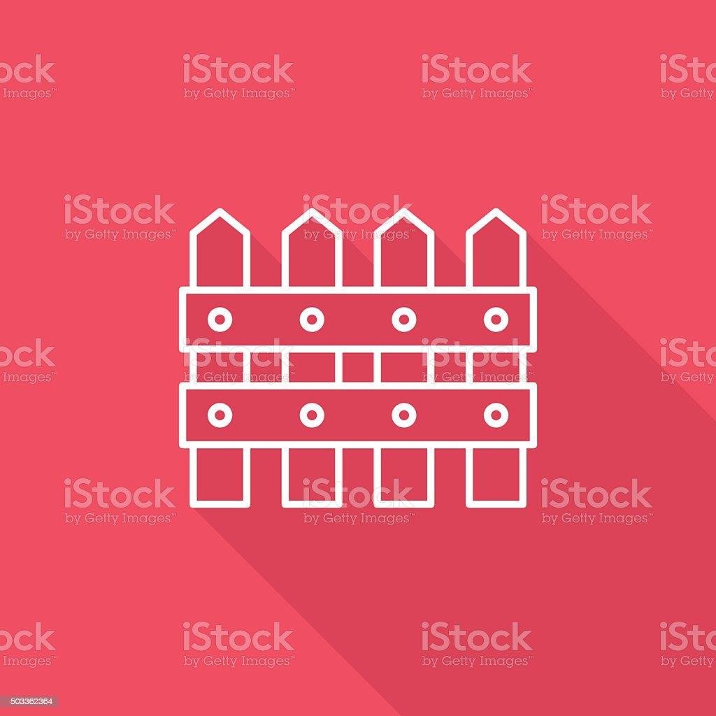 fence icon vector art illustration
