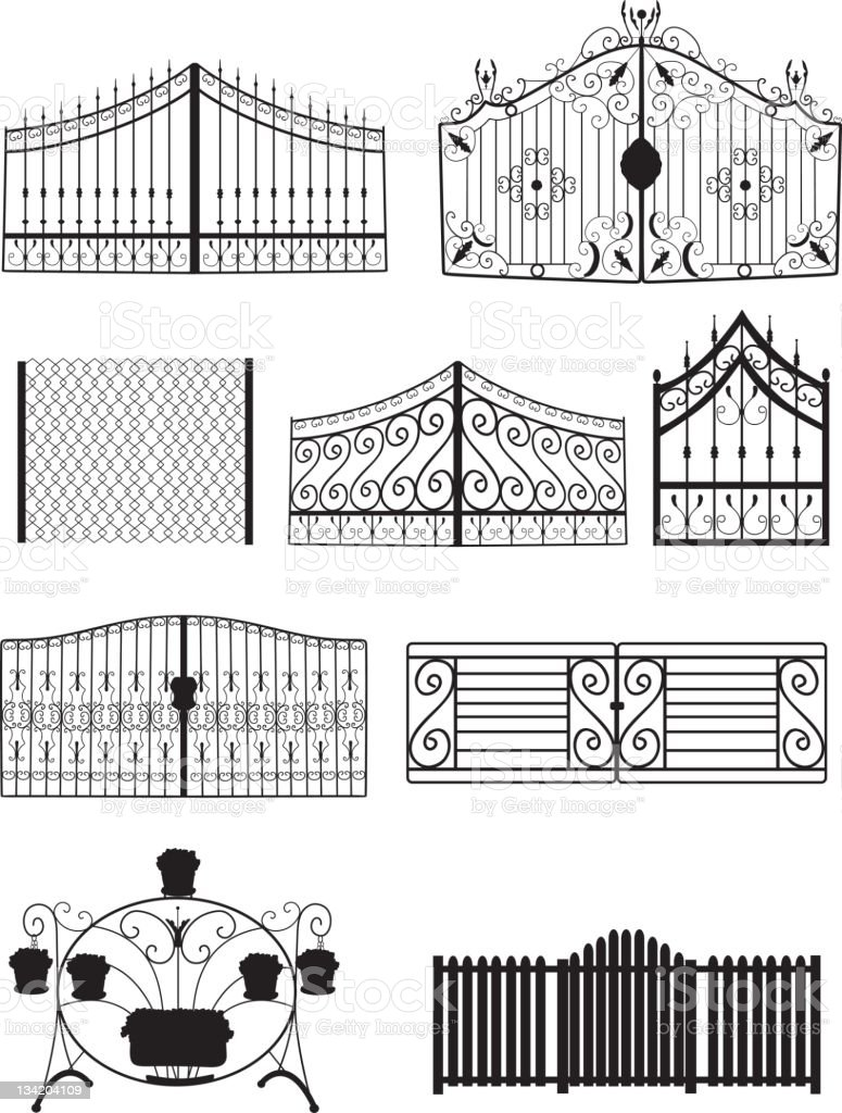 Fence Silhouette royalty-free stock vector art
