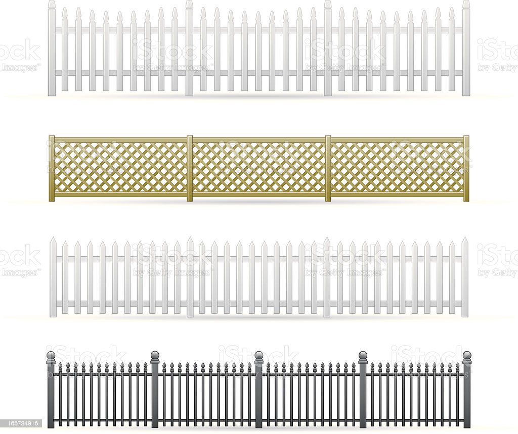 Fences vector art illustration