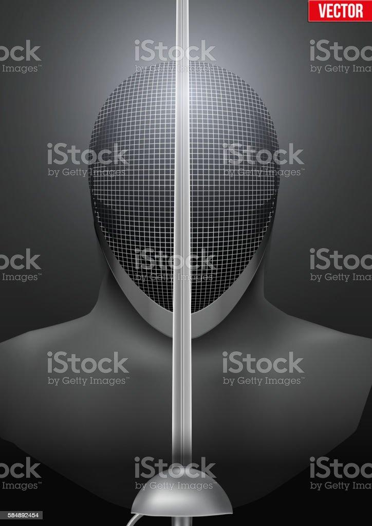Fencing mask vector background illustration vector art illustration