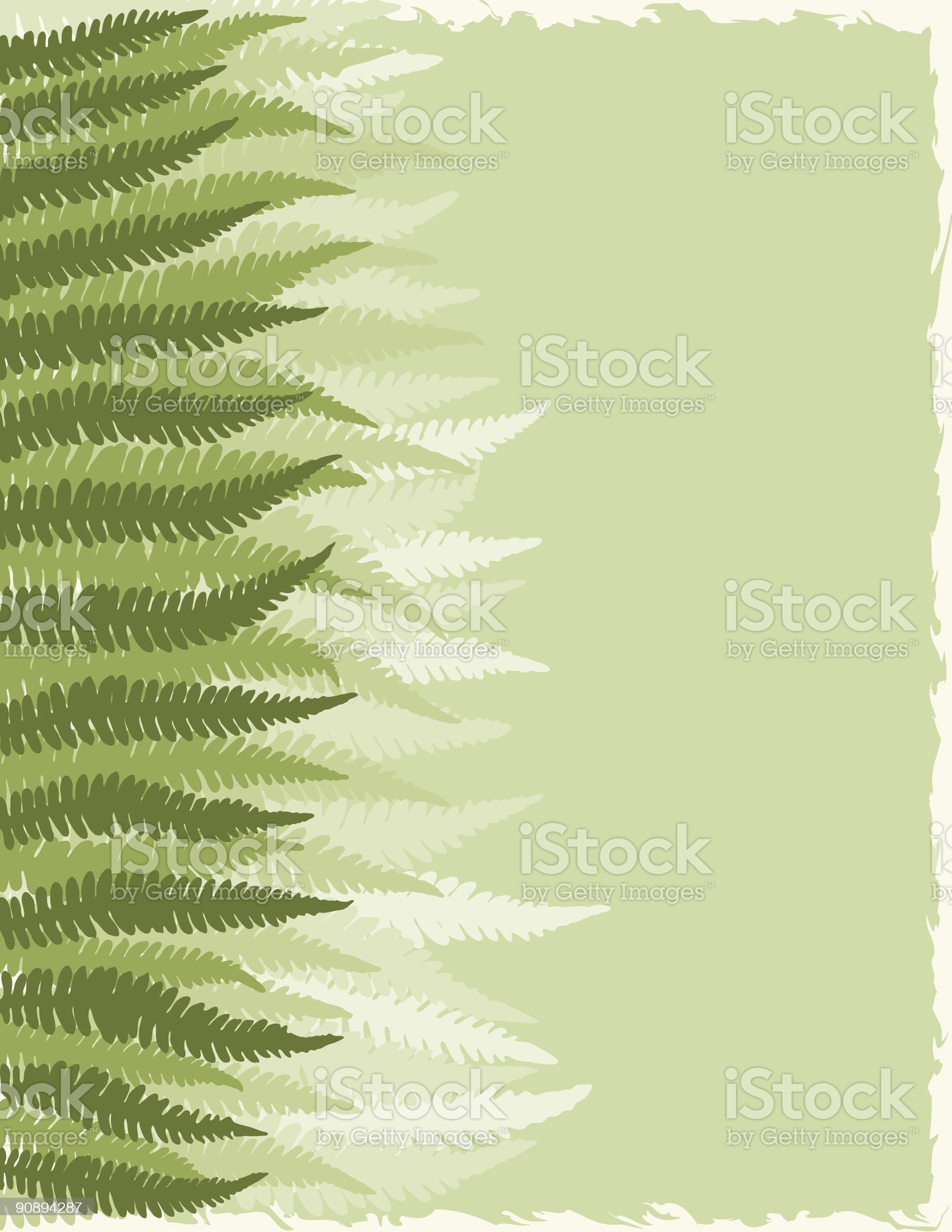 Fern Fronds Background royalty-free stock vector art